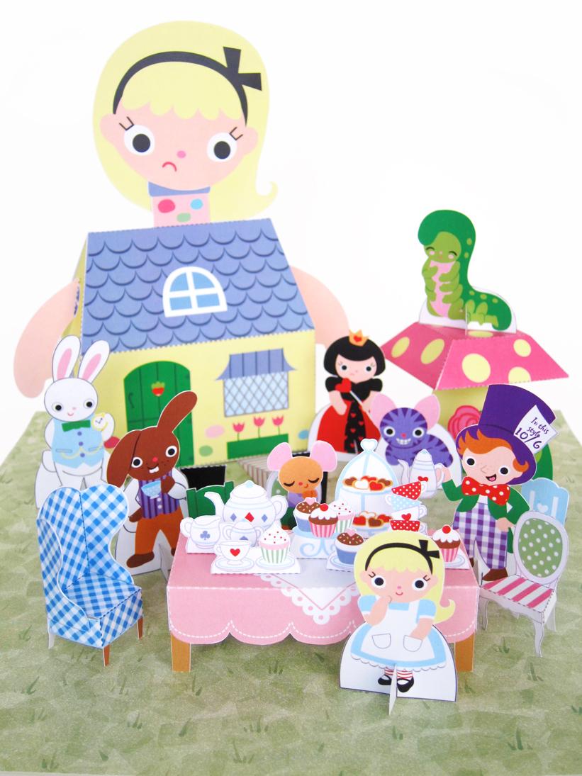 Cute craft tutorials handmade toys printable crafts for Alice in wonderland crafts