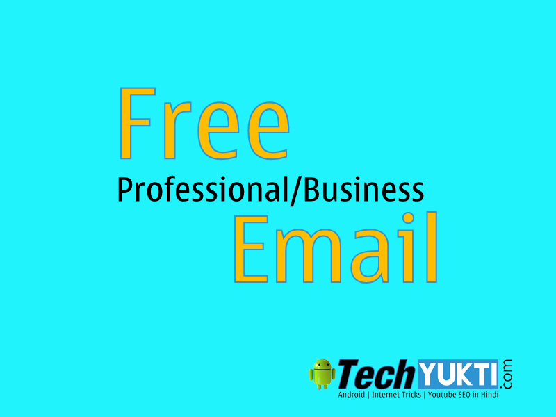 how to create a professional email address for free