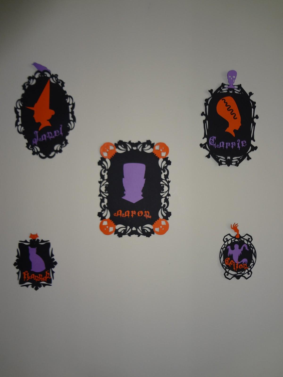 Wall Decor Halloween : Crafty night owls halloween silhouette wall decor