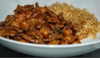 Tirinhas de Soja com Grão-de-Bico (vegana)