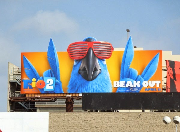 Rio 2 Beak Out special extension movie billboard