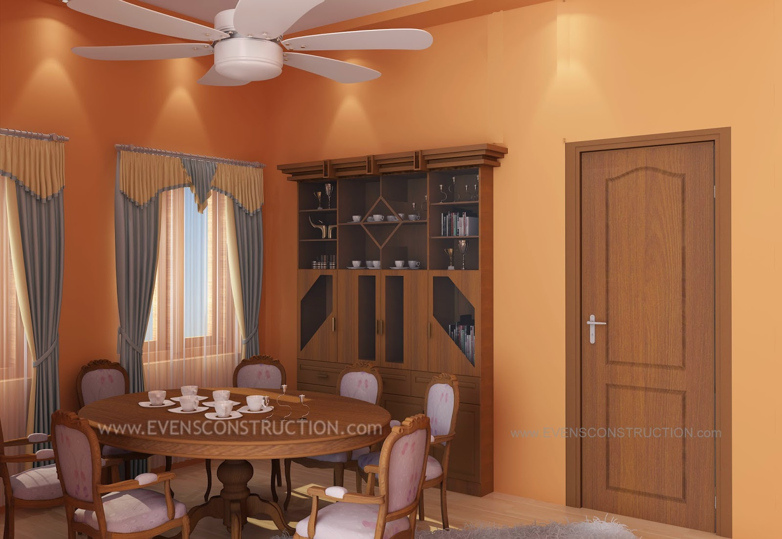 Evens construction pvt ltd kerala dining room design for Dining room designs kerala