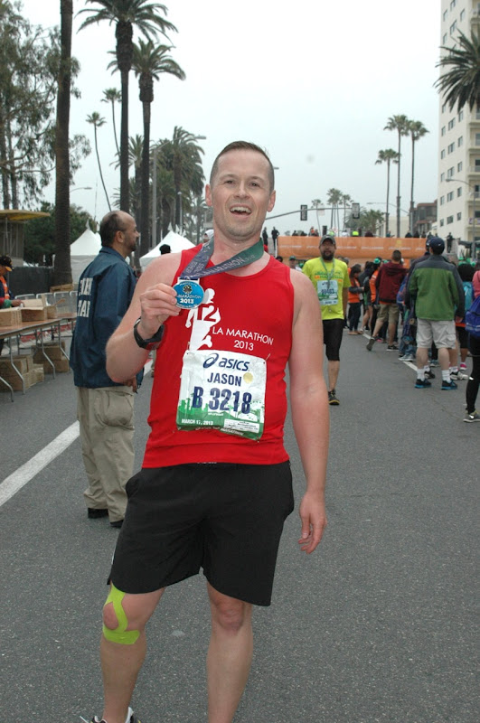 After Finish Line LA Marathon 2013
