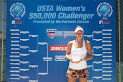 Carson, CaliforniaMay 29: Camila Giorgi of Italy with her trophy after .