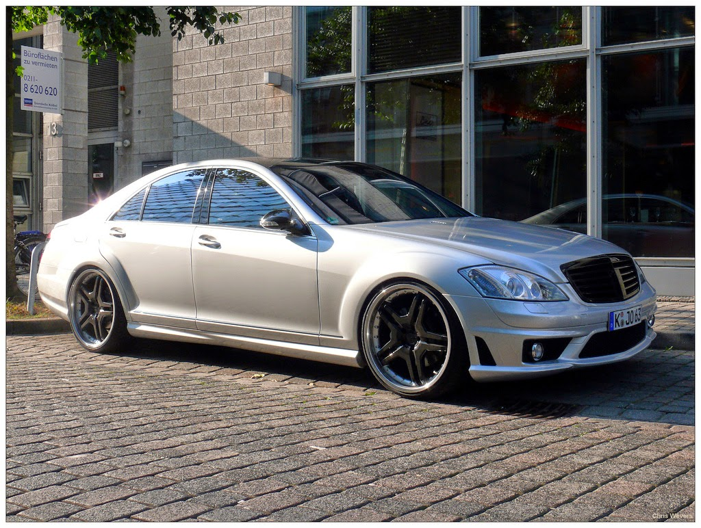 Mercedes benz s63 amg w221 silver on black benztuning for Mercedes benz silver
