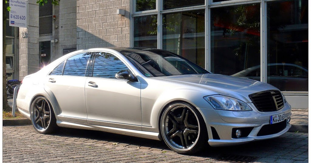 mercedes benz s63 amg w221 silver on black benztuning. Black Bedroom Furniture Sets. Home Design Ideas