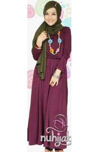 Nuhijab Plain Dress - Deep Purple (Toko Jilbab dan Busana Muslimah Terbaru)