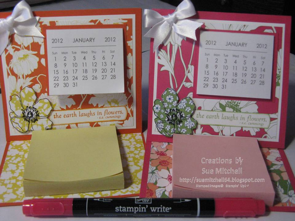 Stampin Up Calendar Ideas : Stampin up australia sue mitchell summer