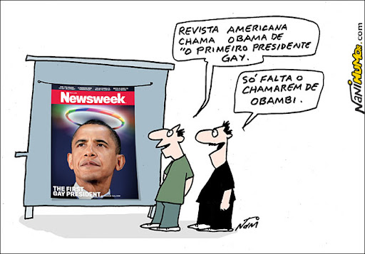 Newsweek chama Obama de 1º presidente gay