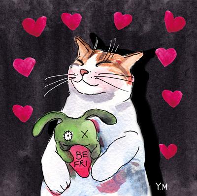 Happy Valentine's day by Yukié Matsushita
