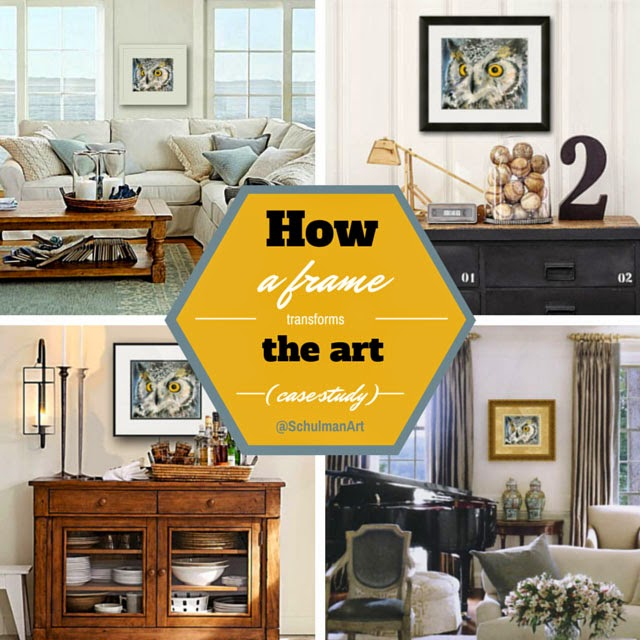 how to frame art http://schulmanart.blogspot.com/2015/04/how-frame-transforms-art.html