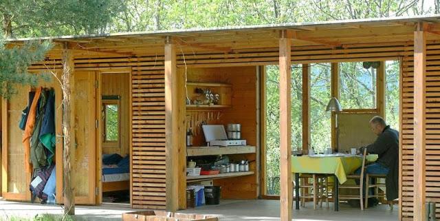 Estilo rustico cabina rustica de madera for Illuminazione rustica della cabina