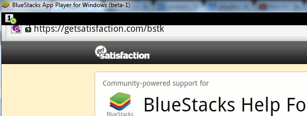 BlueStacks help forum web