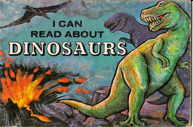Vintage Dinosaur Art: I Can Read About Dinosaurs