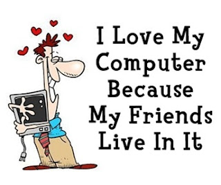 internet friends, Twitter, love, computer, cartoon, weird