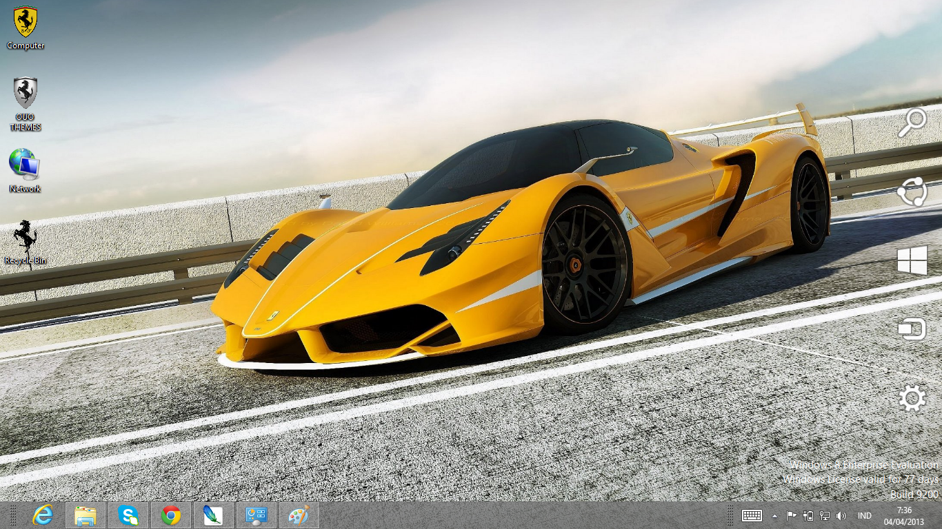 Download Gratis Tema Windows 7 Ferrari Enzo F70 Theme For