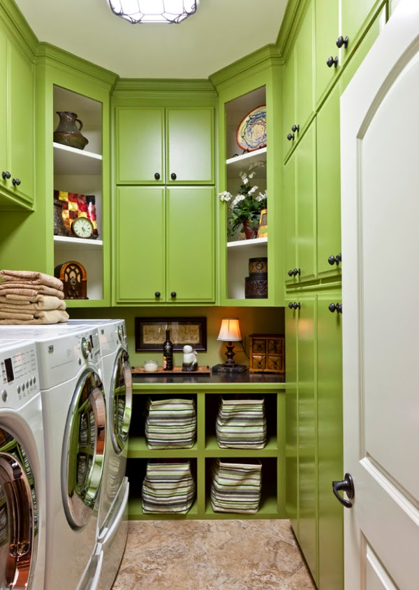 11 green blue laundry room design ideas and pictures laundry folding table - Laundry room small space ideas paint ...