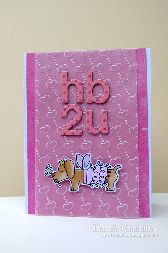 Birthday puppy card by Danielle Pandeline for Newton's Nook Designs