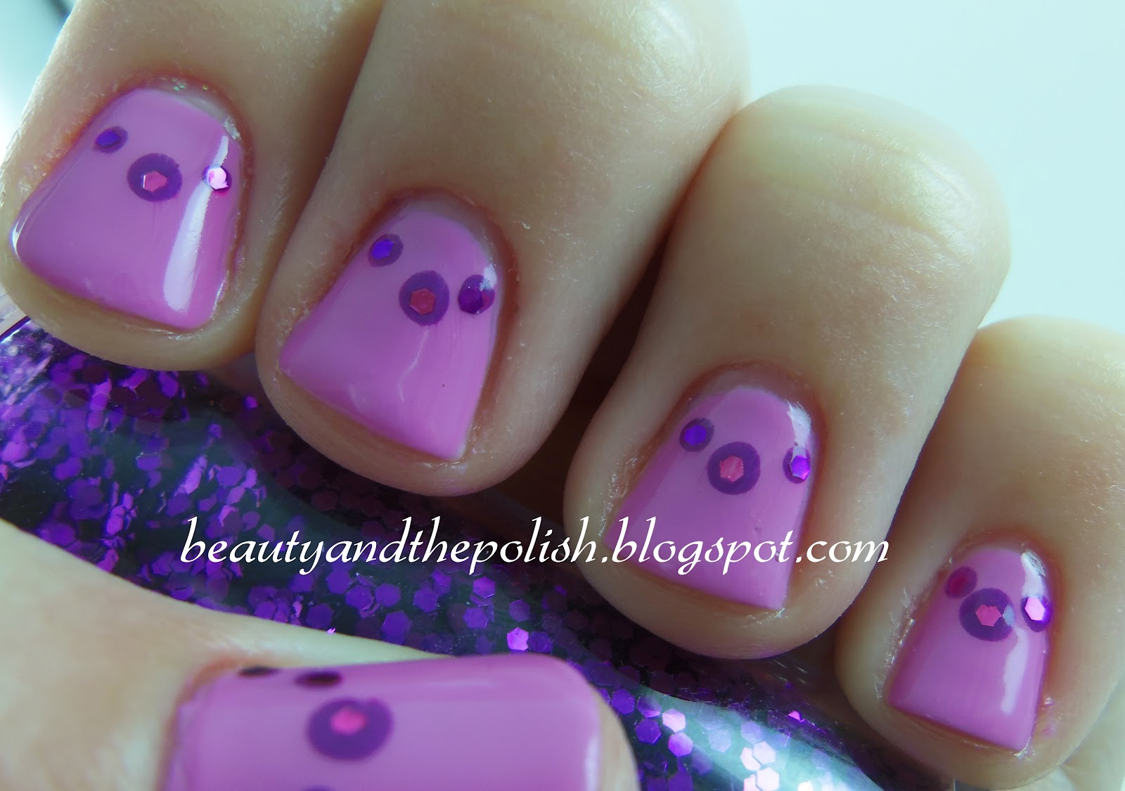 Beauty and the Polish: Purple Necklace inspired nails