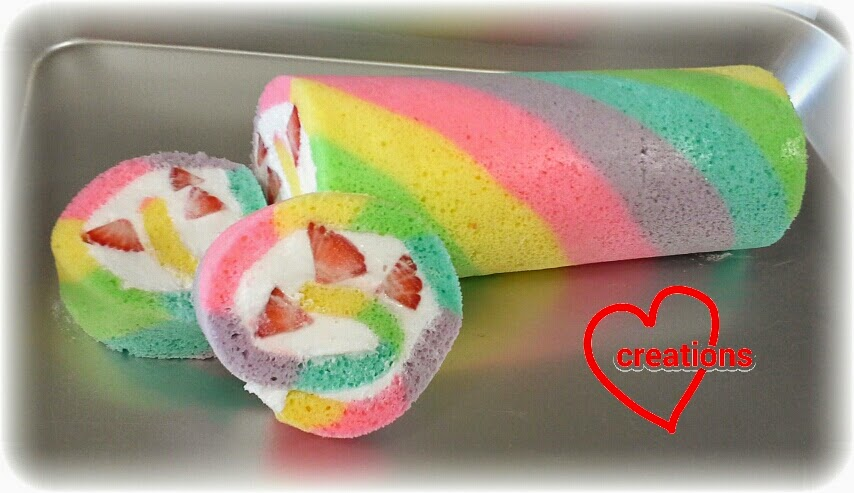 Loving Creations For You Rainbow Swiss Roll With