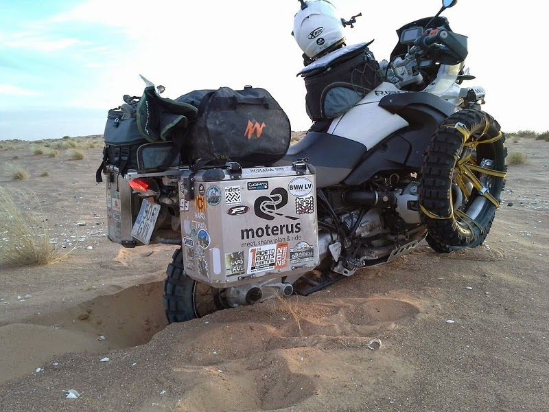 African travel on a BMW motorcycle
