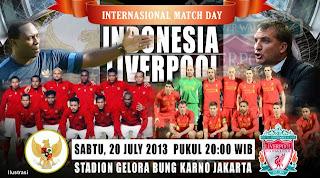 Skor Akhir Indonesia XI vs Liverpool, Sabtu 20 Juli 2013
