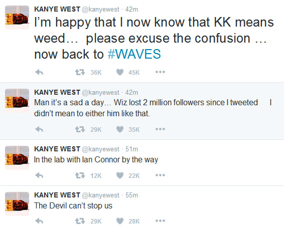 Kanye West Pours More Apologies, Says Wiz Khalifa Lost 2M Followers Over The Beef