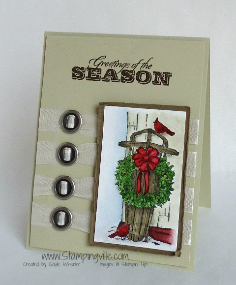 Christmas Card with Stampin' Up! Winter Memories Stamp Set