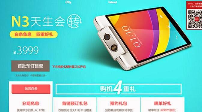 2 juta Unit Oppo N3 Laris di Tiongkong