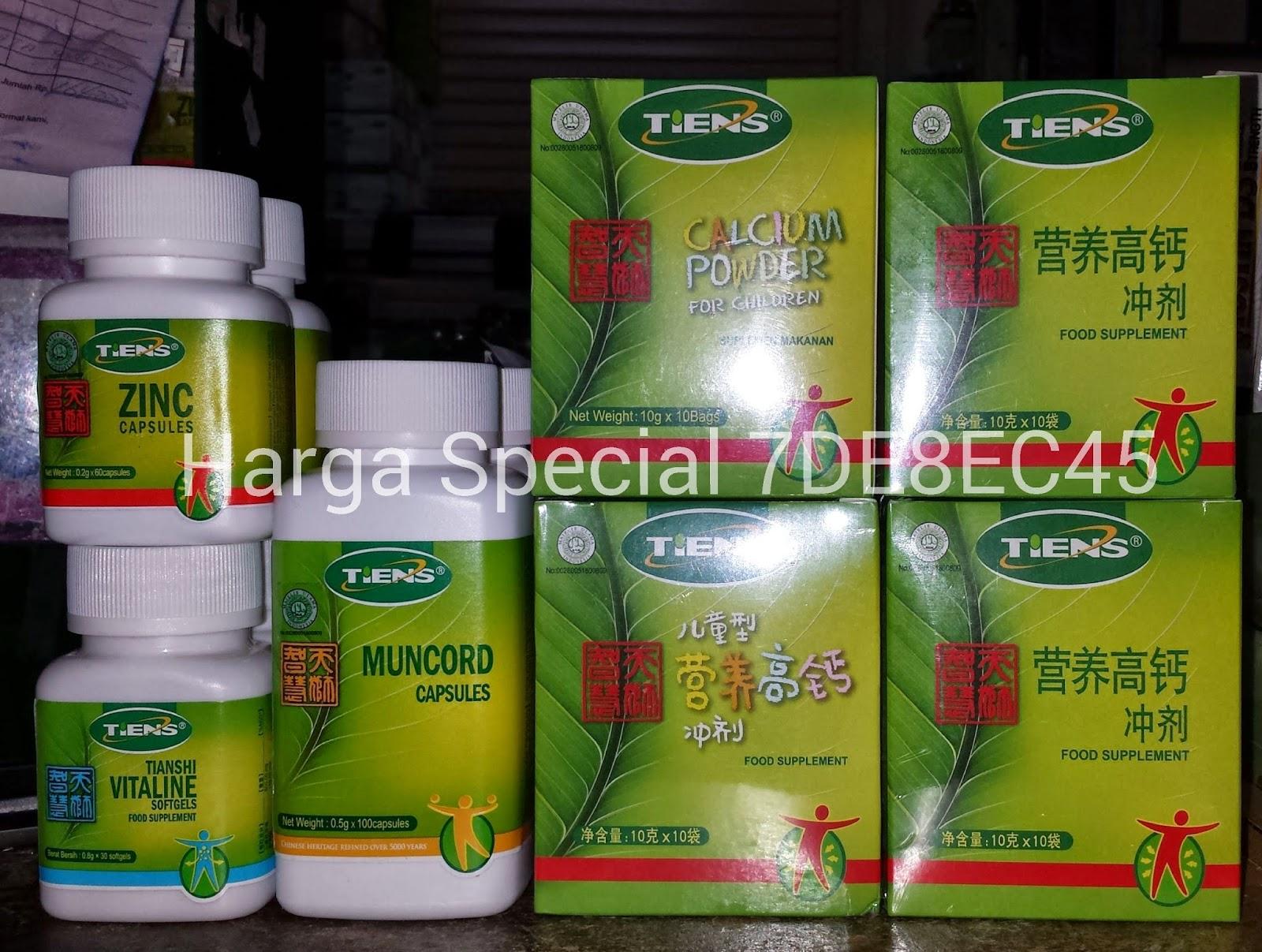 Paket Peninggi Badan Tiens Kalsium Nhcp Zinc Capsules Harga Original 2box 1botol Special Discount Rp145000