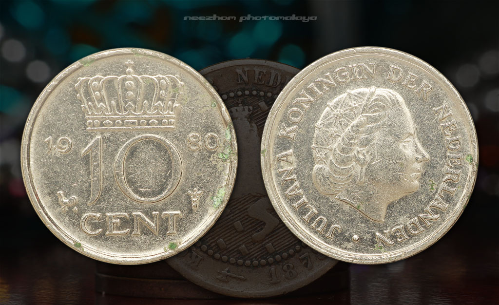 Netherlands 10 cents 1980 coin