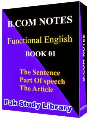 B.Com Notes(Functional English) BOOK 01