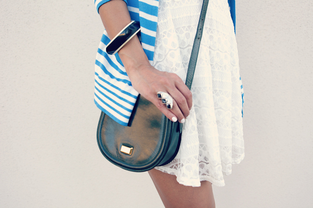 Lace Dress, Polka Dot Shoes, Cross Body Bag, ASOS, Urban Outfitters, Tanvii.com