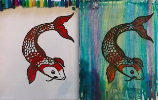 koi crayon fish