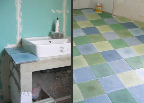 Southern tiles ein bad in den farben des meeres - Zementfliesen bad ...