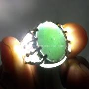 Cincin Batu Permata Hijau Garut Kristal - SP664
