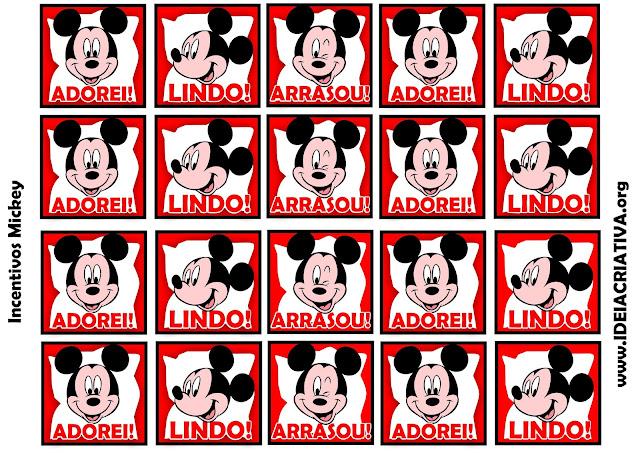 Incentivos Mickey para Educação Infantil Coloridos