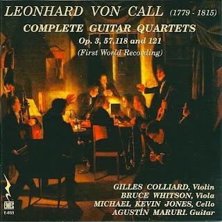 Leonhard von Call: Complete guitar quartets