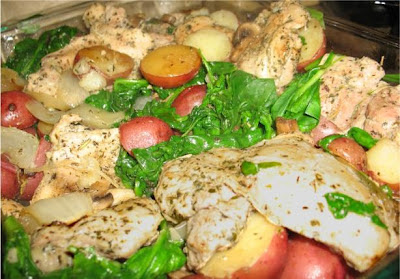 picture of a Roasted Chicken and Vegetable