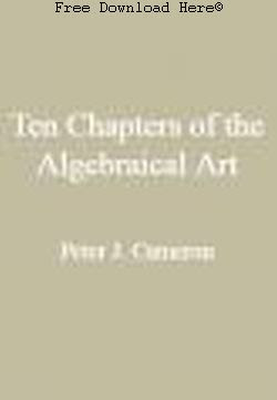 Free Download Ten Chapters of the Algebraical Art Book: