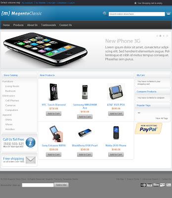 Free Magento Classic ecommerce Theme