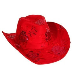Red-Upturned Brim Hats
