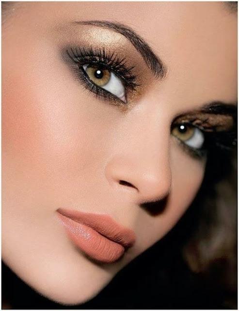 para hazel  Dicas and noiva makeup Maquiagem brown hair Noivas: natural a for pra eyes