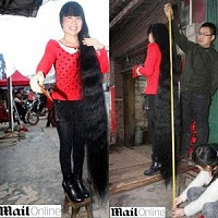 Mulher chinesa não corta o cabelo há 11 anos e fios já chegam a dois metros de comprimento