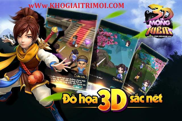Tải game Mộng Kiếm 3D cho điện thoại android, iphone miễn phí