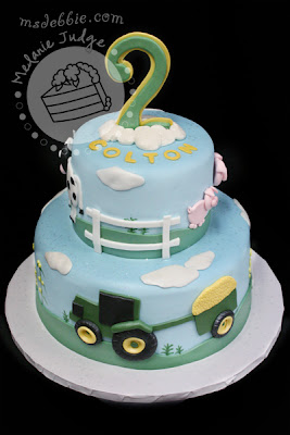 farm animal boy birthday cake