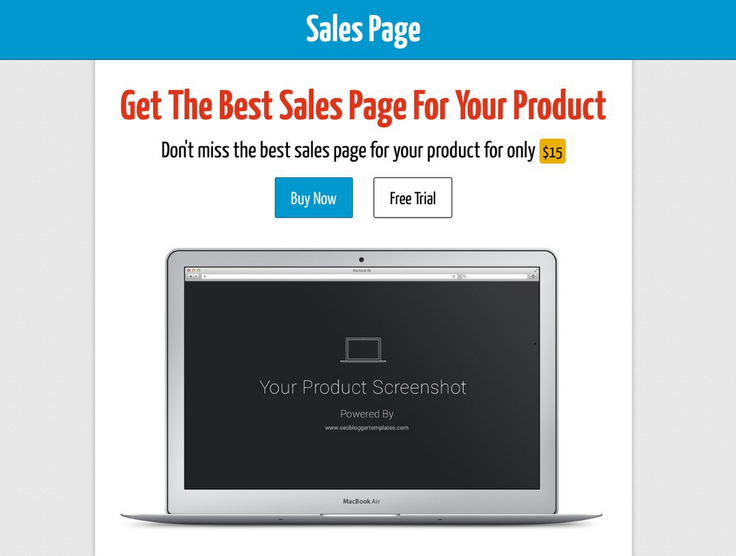 Sales Page Blogger Template