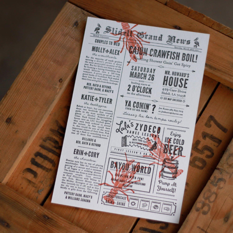 Paper Plates Press :: Letterpress Design House: Crawfish