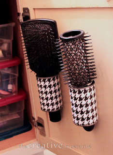 Hanging Hairbrush Storage on The Creative Imperative