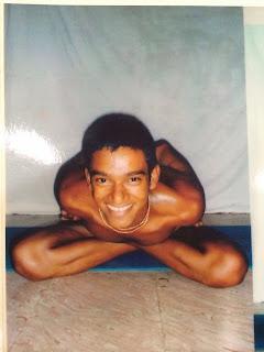 Young Ajay Kumar Practicing Ashtanga Yoga in Mysore